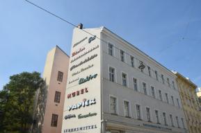 Schriftzugwand Kleine Sperlgasse Wien (1)